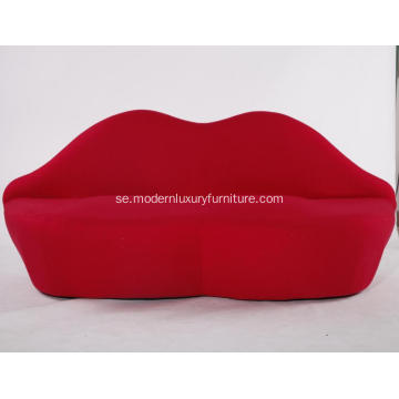 Tyg Bocca Red Lip Sofa Replica Till salu
